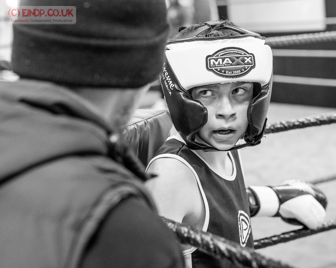 Photography: catching a glove landing during sparring at Sparta, Grangemouth.